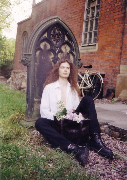 Picture taken at the time the poem was written. Gothic times at a Manchester cemetery (Fallowfield, near Owens Park). (1995)