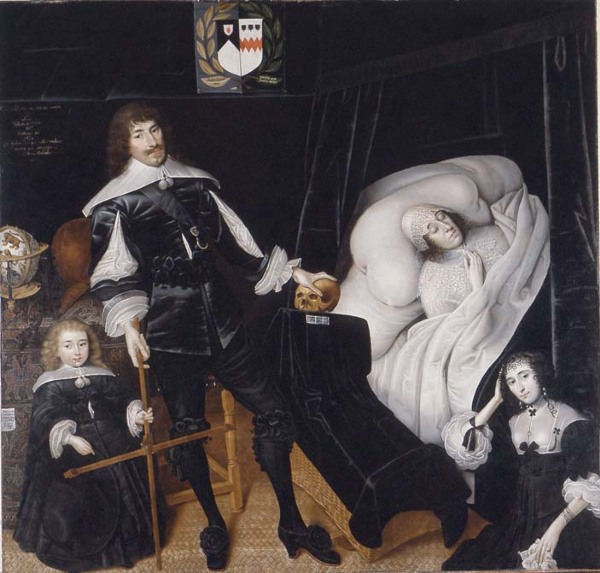 Sir Thomas Aston at the Deathbed of his Wife (John Souch, 1635)